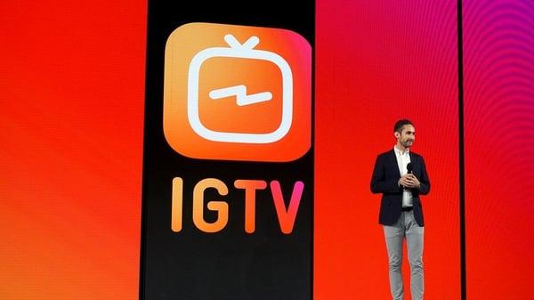 IG TV announcement