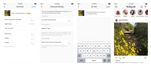 Instagram Assists Visually Impaired