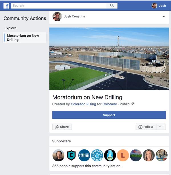 Facebook Community-Actions-Desktop