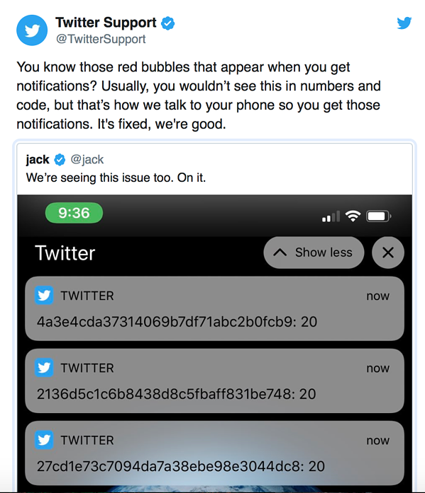 Twitter Issue