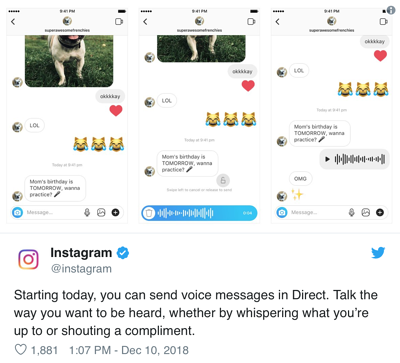 Instagram Voice Message