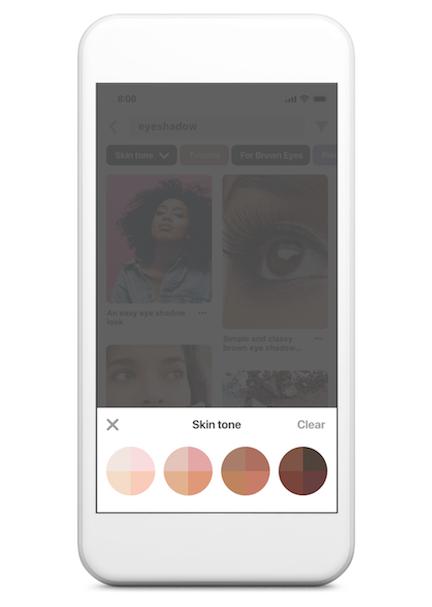 Pinterest Skin-tone Search