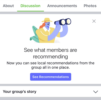 FB Group recommendation