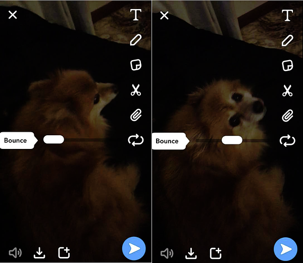 Snapchat Bounce Feature