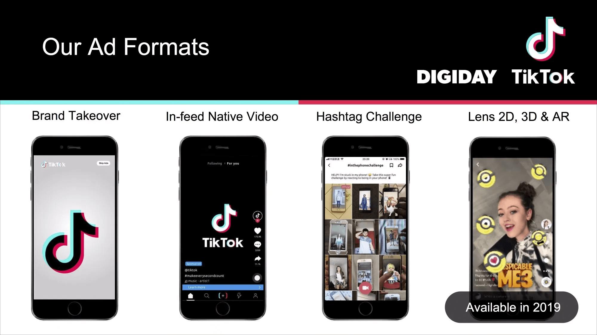 TikTok ad formats